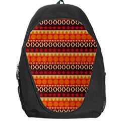 Abstract Lines Seamless Pattern Backpack Bag