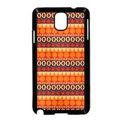 Abstract Lines Seamless Pattern Samsung Galaxy Note 3 Neo Hardshell Case (Black)