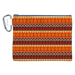 Abstract Lines Seamless Pattern Canvas Cosmetic Bag (xxl)