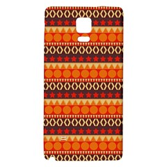 Abstract Lines Seamless Pattern Galaxy Note 4 Back Case