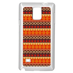 Abstract Lines Seamless Pattern Samsung Galaxy Note 4 Case (White)