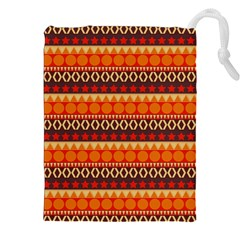 Abstract Lines Seamless Pattern Drawstring Pouches (XXL)