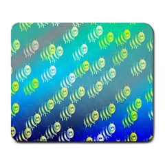 Swarm Of Bees Background Wallpaper Pattern Large Mousepads