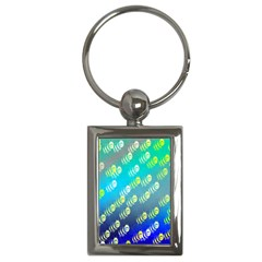 Swarm Of Bees Background Wallpaper Pattern Key Chains (rectangle)