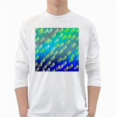 Swarm Of Bees Background Wallpaper Pattern White Long Sleeve T Shirts