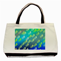 Swarm Of Bees Background Wallpaper Pattern Basic Tote Bag (Two Sides)