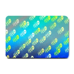 Swarm Of Bees Background Wallpaper Pattern Small Doormat