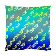 Swarm Of Bees Background Wallpaper Pattern Standard Cushion Case (one Side)