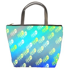 Swarm Of Bees Background Wallpaper Pattern Bucket Bags