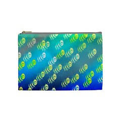 Swarm Of Bees Background Wallpaper Pattern Cosmetic Bag (Medium)