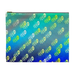 Swarm Of Bees Background Wallpaper Pattern Cosmetic Bag (XL)