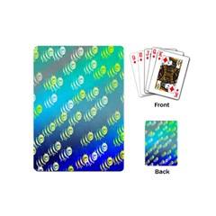 Swarm Of Bees Background Wallpaper Pattern Playing Cards (mini)