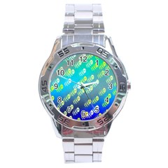 Swarm Of Bees Background Wallpaper Pattern Stainless Steel Analogue Watch