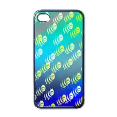 Swarm Of Bees Background Wallpaper Pattern Apple Iphone 4 Case (black)