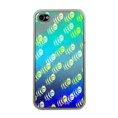 Swarm Of Bees Background Wallpaper Pattern Apple Iphone 4 Case (clear)
