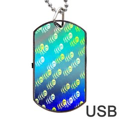 Swarm Of Bees Background Wallpaper Pattern Dog Tag USB Flash (One Side)