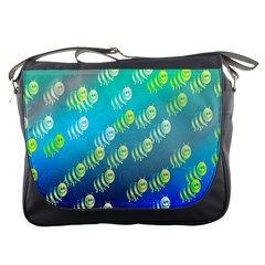 Swarm Of Bees Background Wallpaper Pattern Messenger Bags