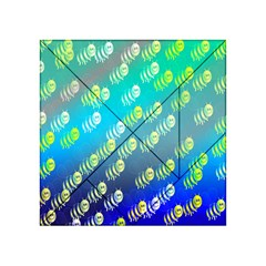 Swarm Of Bees Background Wallpaper Pattern Acrylic Tangram Puzzle (4  x 4 )