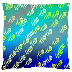 Swarm Of Bees Background Wallpaper Pattern Large Cushion Case (One Side)