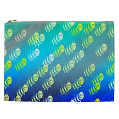 Swarm Of Bees Background Wallpaper Pattern Cosmetic Bag (xxl)