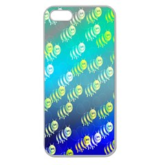 Swarm Of Bees Background Wallpaper Pattern Apple Seamless Iphone 5 Case (clear)