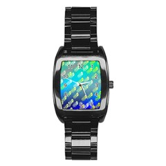 Swarm Of Bees Background Wallpaper Pattern Stainless Steel Barrel Watch
