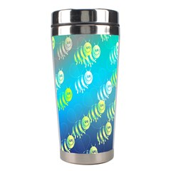 Swarm Of Bees Background Wallpaper Pattern Stainless Steel Travel Tumblers