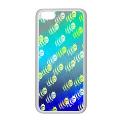 Swarm Of Bees Background Wallpaper Pattern Apple Iphone 5c Seamless Case (white)