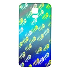 Swarm Of Bees Background Wallpaper Pattern Samsung Galaxy S5 Back Case (white)