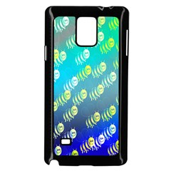 Swarm Of Bees Background Wallpaper Pattern Samsung Galaxy Note 4 Case (Black)