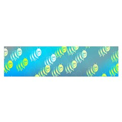 Swarm Of Bees Background Wallpaper Pattern Satin Scarf (Oblong)
