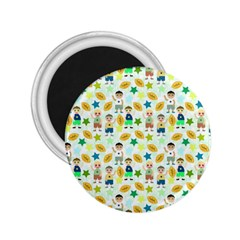 Football Kids Children Pattern 2 25  Magnets