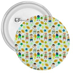 Football Kids Children Pattern 3  Buttons