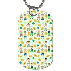 Football Kids Children Pattern Dog Tag (One Side)