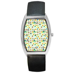 Football Kids Children Pattern Barrel Style Metal Watch