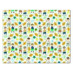 Football Kids Children Pattern Rectangular Jigsaw Puzzl
