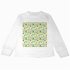 Football Kids Children Pattern Kids Long Sleeve T-Shirts