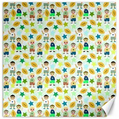 Football Kids Children Pattern Canvas 20  x 20