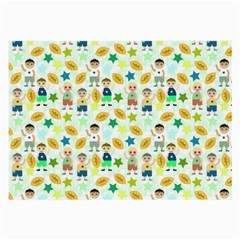 Football Kids Children Pattern Large Glasses Cloth
