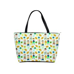 Football Kids Children Pattern Shoulder Handbags