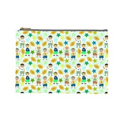 Football Kids Children Pattern Cosmetic Bag (large)