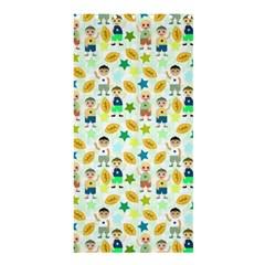 Football Kids Children Pattern Shower Curtain 36  x 72  (Stall)