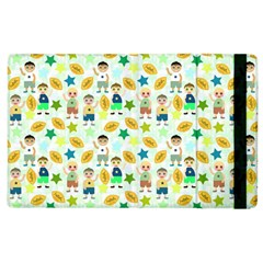Football Kids Children Pattern Apple Ipad 2 Flip Case