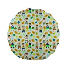 Football Kids Children Pattern Standard 15  Premium Round Cushions