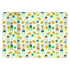 Football Kids Children Pattern Samsung Galaxy Tab 10 1  P7500 Flip Case