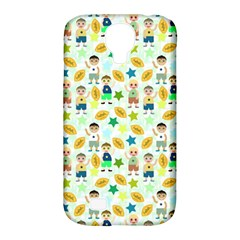 Football Kids Children Pattern Samsung Galaxy S4 Classic Hardshell Case (PC+Silicone)