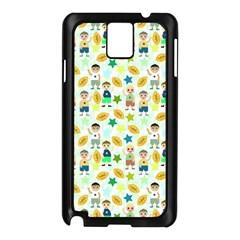 Football Kids Children Pattern Samsung Galaxy Note 3 N9005 Case (black)