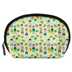 Football Kids Children Pattern Accessory Pouches (Large)