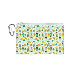 Football Kids Children Pattern Canvas Cosmetic Bag (s)