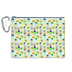 Football Kids Children Pattern Canvas Cosmetic Bag (XL)